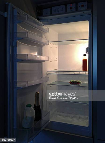 View Of An Open Fridge