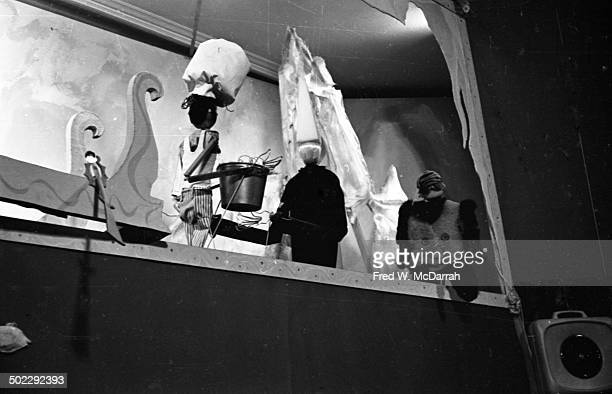View of an unidentified marionette play performed by the Bread and Puppet Theater New York New York December 22 1964