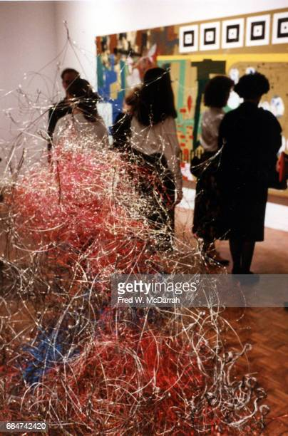 View of an unidentified sculpture on display during the Whitney Biennial New York New York April 9 1987