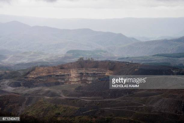 View of an unused coal mine at Black Mountain Virginia on April 18 2017 According to environmental activists many nearby streams contain unusually...