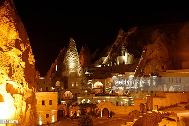 A view of Anatolian Houses Hotel on August 20 2007 in Cappadocia Turkey The Turkish region of Cappadocia boasts one of Europe's most dramatic...