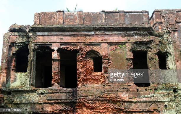 View of ancient building in Panam City, Bangladesh, on October 16, 2020. Panam Nagar, it was the most attractive historical city in Bangladesh....