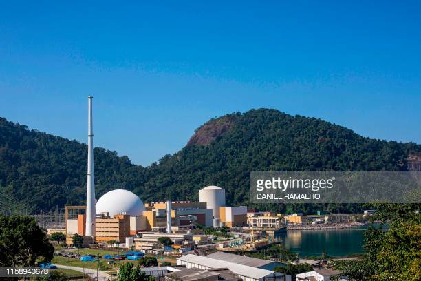 View of Angra I and II nuclear power complex in Angra dos Reis Rio de Janeiro Brazil on August 1 2019 The construction of the Brazilian nuclear power...