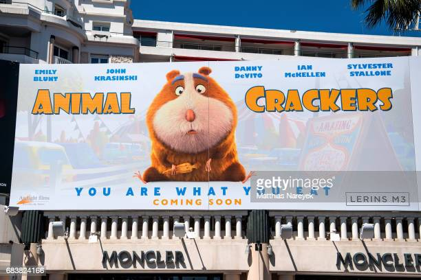 A view of 'Animal Crackers' film signage during the 70th annual Cannes Film Festival at on May 16 2017 in Cannes France