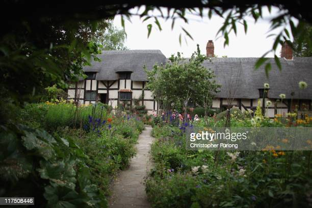 A view of Anne Hathaway's Cottage where William Shakespeare courted his future bride Anne Hathaway on June 27 2011 in StratforduponAvon England...