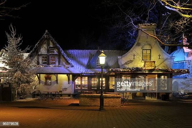 A view of Anton Pieck Square at Efteling theme park on December 25 2009 in Kaatsheuvel Netherlands