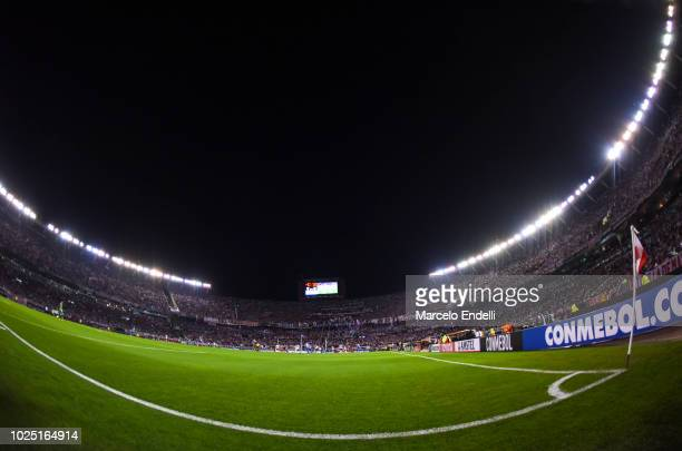 View of Antonio Vespucio Liberti Stadium during a round of sixteen second leg match between River Plate and Racing Club as part of Copa CONMEBOL...