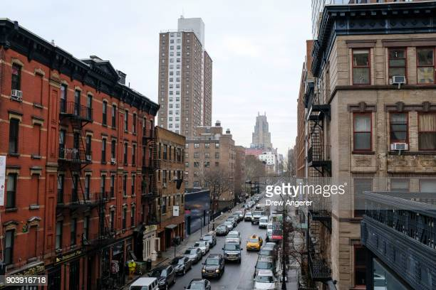 A view of apartments in the Chelsea neighborhood in Manhattan January 11 2018 in New York City According to a real estate report released on Thursday...
