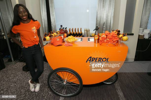 A view of Aperol at Citi Taste Of Tennis at W New York on August 24 2017 in New York City