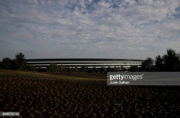 A view of Apple Park on September 12 2017 in Cupertino California Apple is holding their first special event at the new Apple Park campus where they...
