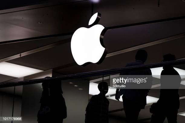A view of Apple Store at Festival Walk shopping mall in Mong Kok District on August 15 2018 in Hong Kong Hong Kong