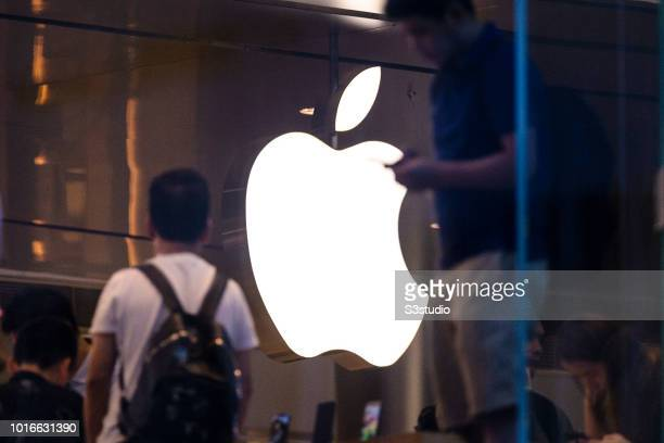 A view of Apple Store at Hong Kong International Finance Center on August 14 2018 in Hong Kong Hong Kong