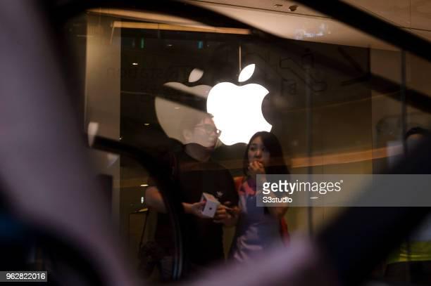 A view of Apple store facade at Hong Kong Times Square on May 24 2018 in Hong Kong Hong Kong