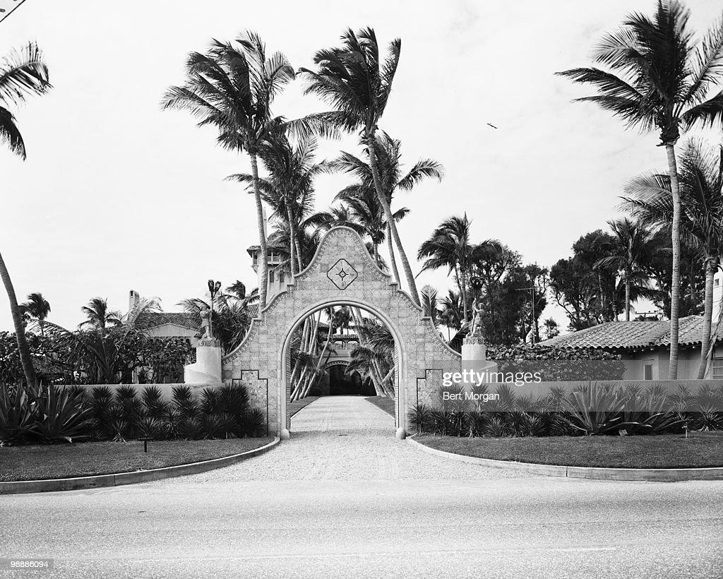 Entrance To Mar-A-Lago : News Photo