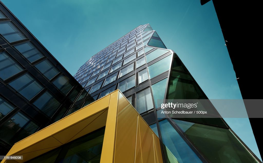 View of architectural buildings from below : Stock-Foto