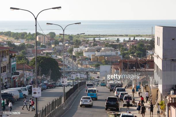 View of Areia Branca on January 27, 2020 in Luanda, Angola. In June 2013, 3000 families were evicted from a shanty town called Areia Branca, forcibly...