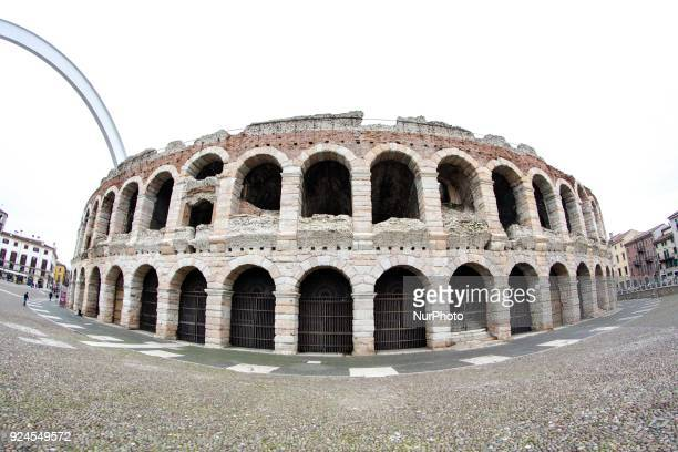 View of Arena di Verona Italy on 2013 Verona is a city on the Adige river in Veneto Italy and it is one of the main tourist destinations in northern...