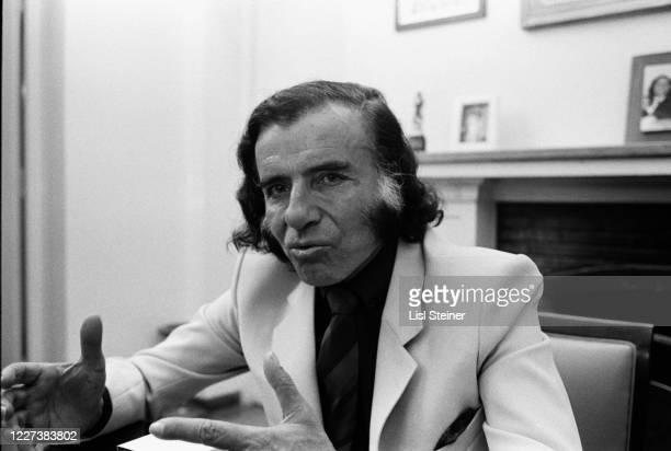 View of Argentinean politician Governor of La Rioja Carlos Menem at his desk Argentina 1988