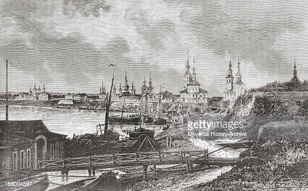 A View Of Arkhangelsk Russia In The 19Th Century From El Mundo En La Mano Published 1878