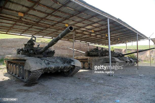 View of Armenian military vehicles captured by Azerbaijani army within the border clashes between Azerbaijan and Armenia are seen, in Baku,...