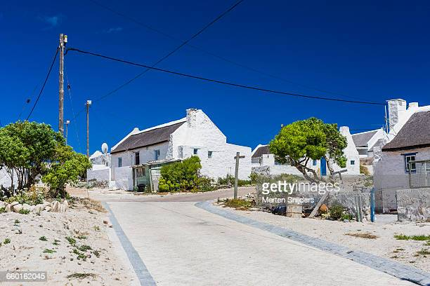 view of arniston beachfront fishing community - overberg stock pictures, royalty-free photos & images