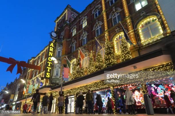 View of Arnotts department store Christmas Season decorations. On Saturday, November 21 in Dublin, Ireland.