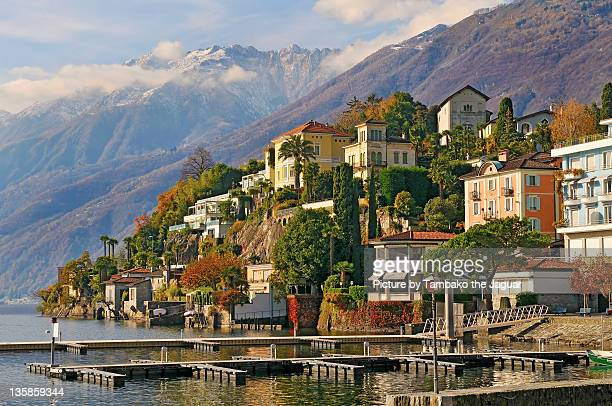 view of ascona - ascona stock photos and pictures
