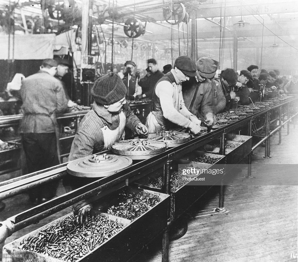View Of Assembly Line Workers In A Ford Motor Company Plant Detroit Michigan