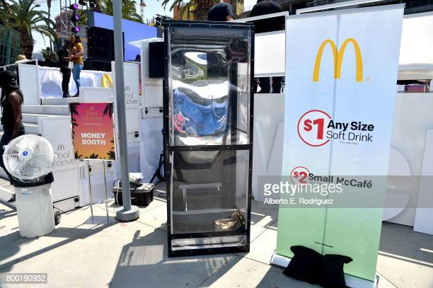 View of at day one of the Pool Groove, sponsored by McDonald's, during the 2017 BET Experience at Gilbert Lindsey Plaza on June 23, 2017 in Los...