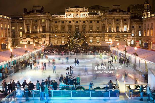 Tiffany & Co. Ice Skating Rink at Somerset House, London via The Terrier  and Lobster | Ice skating, Skating rink, Ice skating rink