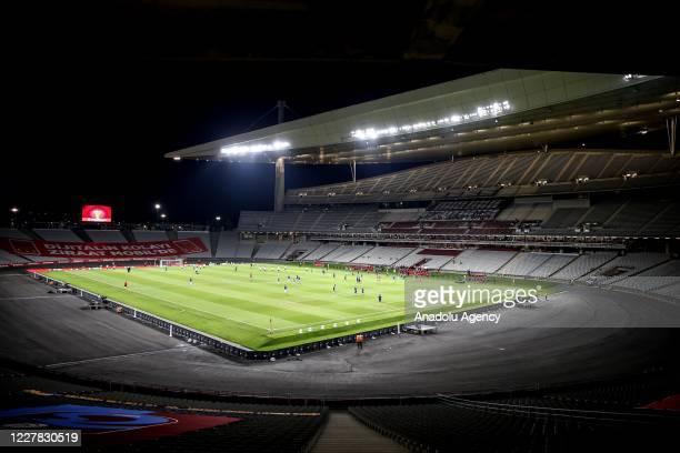 View of Ataturk Olympic Stadium during a Ziraat Turkish Cup Final match between Trabzonspor and Aytemiz Alanyaspor in Istanbul, Turkey on July 29,...