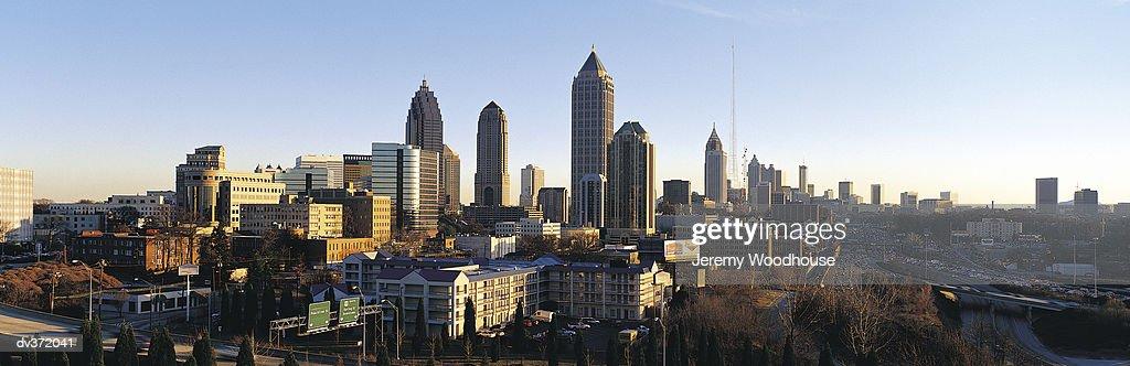 View of Atlanta skyline, Georgia, USA : Stock Photo