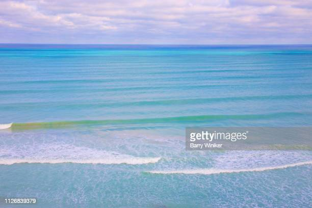 View of Atlantic Ocean from high up in Hollywood, Florida