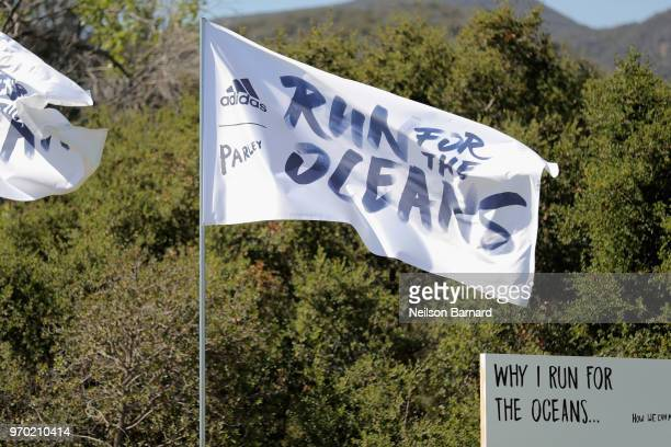 View of atmopshere at adidas x Parley 'Run For The Oceans' event harnessing the power of sport and continued fight against the threat of marine...