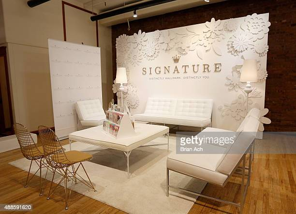 A view of atmosphere as Julianne Hough kicks off Hallmark Signature's popup shop at New York's Fashion Week on September 16 2015 in New York City