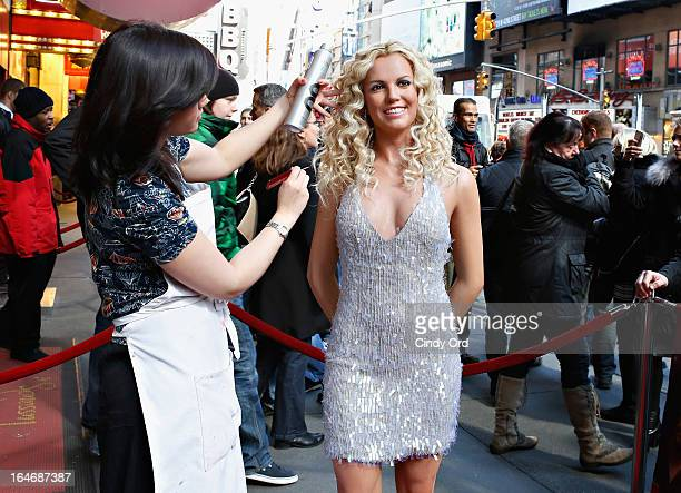 A view of atmosphere as Madame Tussauds New York unveils a new wax figure of Britney Spears on March 26 2013 in New York City
