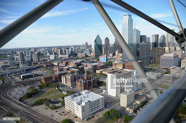 A view of atmosphere as seen from Reunion Tower during the ATT Block Party at NCAA March Madness Music Festival Day 1 at Reunion Park on April 4 2014...