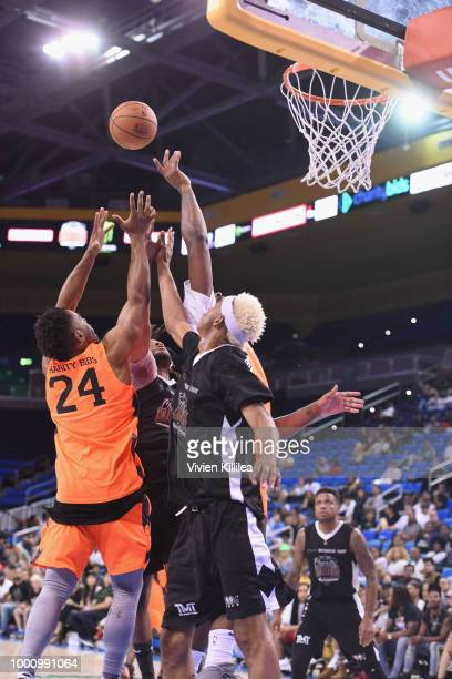 View of atmosphere at 50K Charity Challenge Celebrity Basketball Game at UCLA's Pauley Pavilion on July 17 2018 in Westwood California