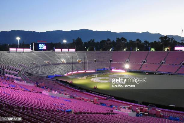 View of atmosphere at 99 Cents Only Stores Celebrates Day By Setting A Guinness World Record At Rose Bowl Stadium on September 9 2018 in Pasadena...