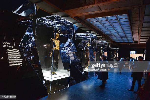 A view of atmosphere at 'China Through The Looking Glass' Costume Institute Benefit Gala Press Preview at Metropolitan Museum of Art on May 4 2015 in...