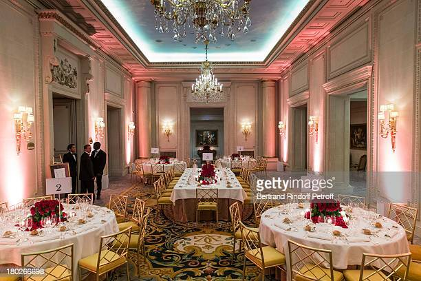 A view of atmosphere at Four Seasons Hotel George V prior to a charity dinner hosted by the Claude Pompidou foundation on September 10 2013 in Paris...
