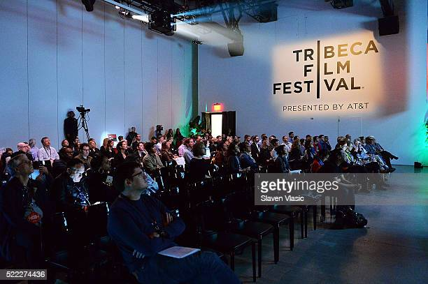 A view of atmosphere at Games For Change Games Media Summit 2016 Tribeca Film Festival at Spring Studios on April 18 2016 in New York City