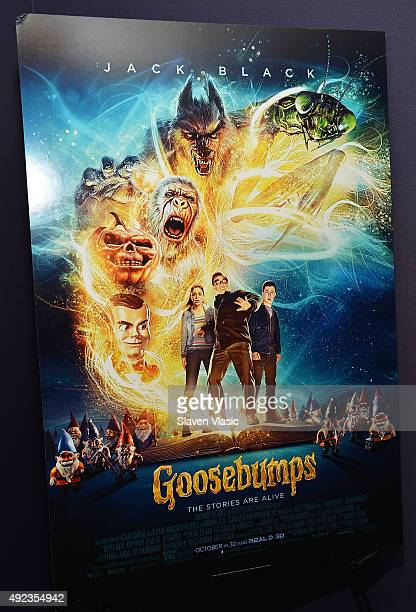 A view of atmosphere at 'Goosebumps' New York premiere at AMC Empire 25 theater on October 12 2015 in New York City