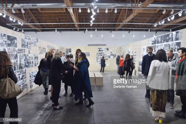 A view of atmosphere at Hauser Wirth Los Angeles Opening of Annie Leibovitz and Piero Manzoni and Musical Performance by Patti Smith at Hauser Wirth...