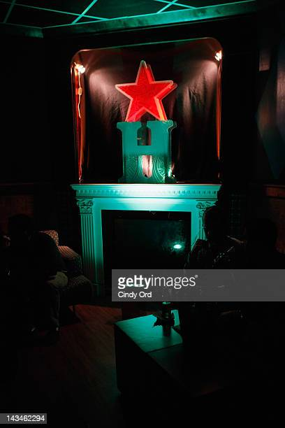 A view of atmosphere at Heineken Presents Side by Side Fan QA on April 26 2012 in New York City