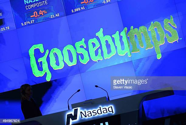 A view of atmosphere at NASDAQ Opening Bell in celebration of Halloween and 'Goosebumps' at NASDAQ on October 30 2015 in New York City