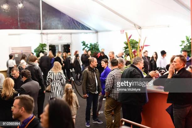 View of atmosphere at OPENING NIGHT   ART LOS ANGELES CONTEMPORARY 9TH EDITION at Barkar Hangar on January 25 2018 in Santa Monica California
