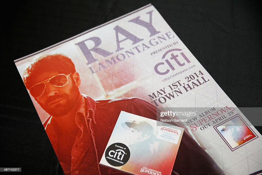 View of atmosphere at Ray LaMontagne Performs Intimate Concert Exclusively For Citi Cardmembers At Town Hall on May 1, 2014 in New York City.