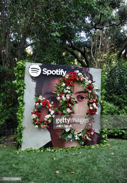 View of atmosphere at Shawn Mendes' special event in a private garden in Beverly Hills to celebrate his self titled album Shawn Mendes