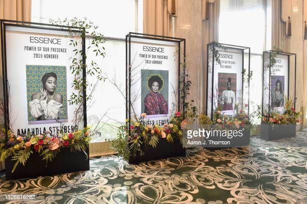 A view of atmosphere at the 2019 Essence Black Women in Hollywood Awards Luncheon at Regent Beverly Wilshire Hotel on February 21 2019 in Los Angeles...